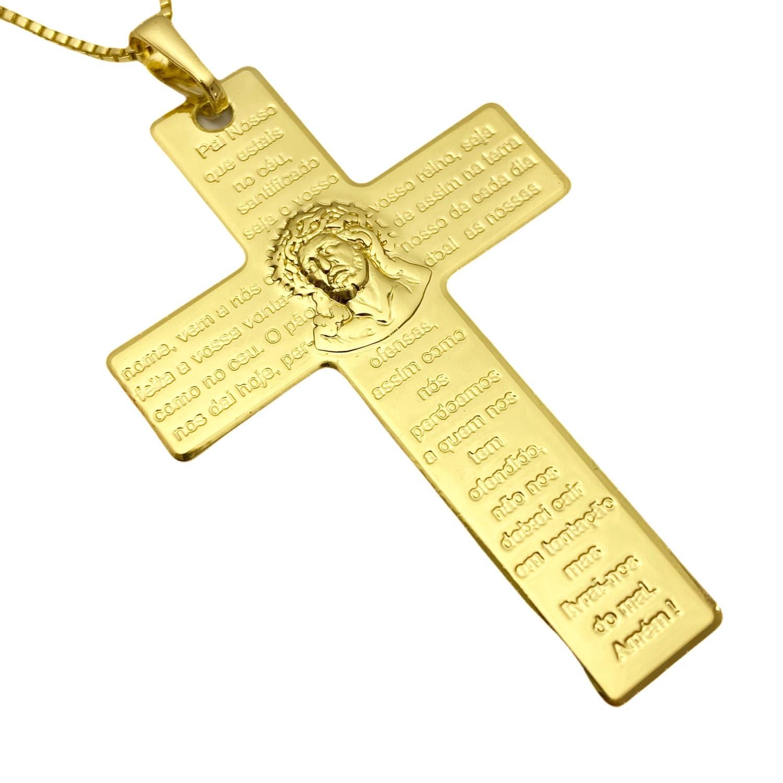 Pingente Crucifixo Pai Nosso 5cm X 3,2cm