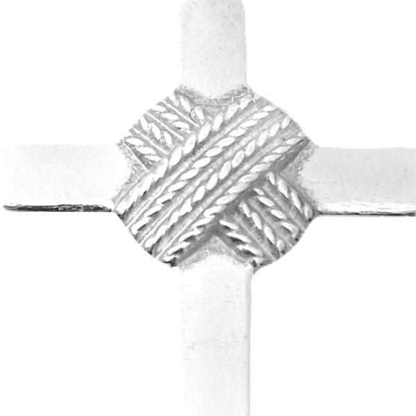 Pingente Crucifixo Trançado 2,8cm x 1,7cm (Prata 925 Italiana)