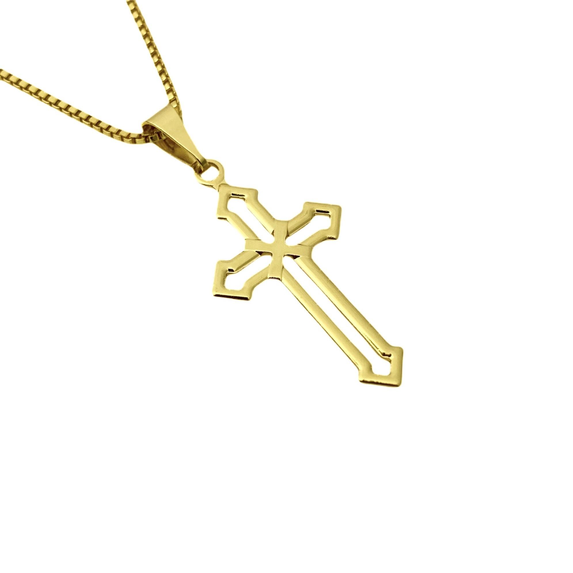 Pingente Crucifixo Vazado 2,8cm X 1,5cm
