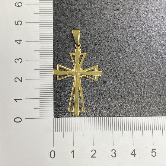 Pingente Cruz Vazada (3,9cmX2,6cm) (Banho Ouro 24k)
