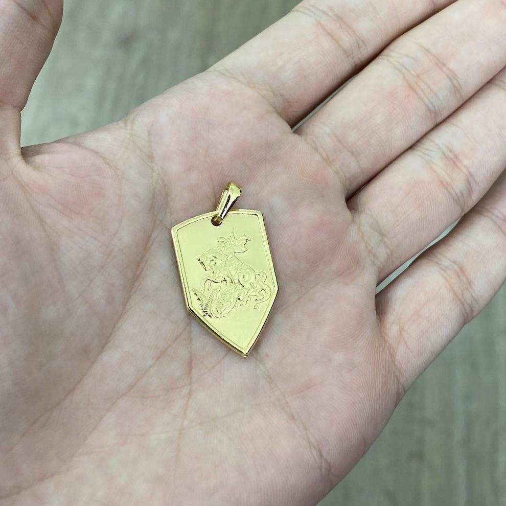 Pingente Escudo São Jorge 2,7cm X 1,8cm