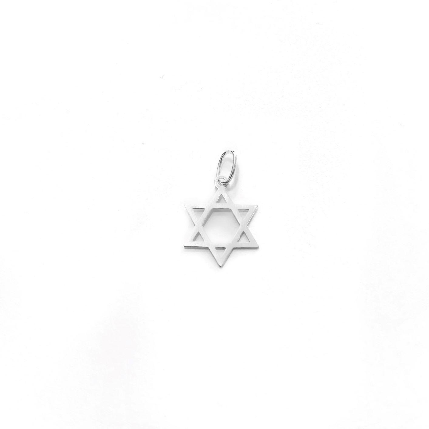 Pingente Estrela De Davi 1,3cm x 1,3cm (Prata 925 Italiana)