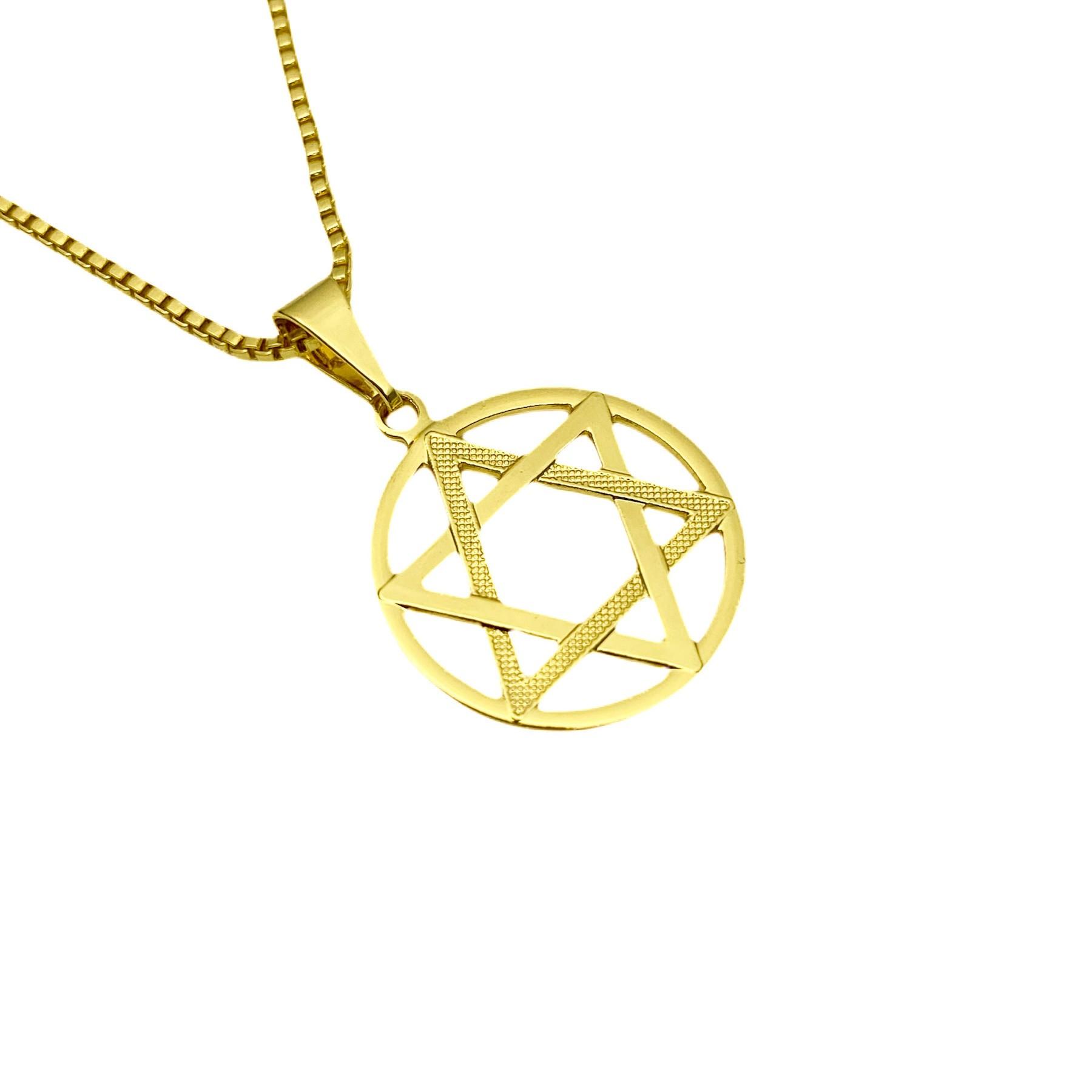Pingente Estrela de Davi 1,7cm X 1,7cm