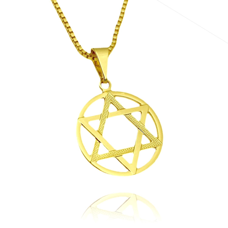 Pingente Estrela de Davi (2,2cmX1,9cm) (Banho Ouro 24k)