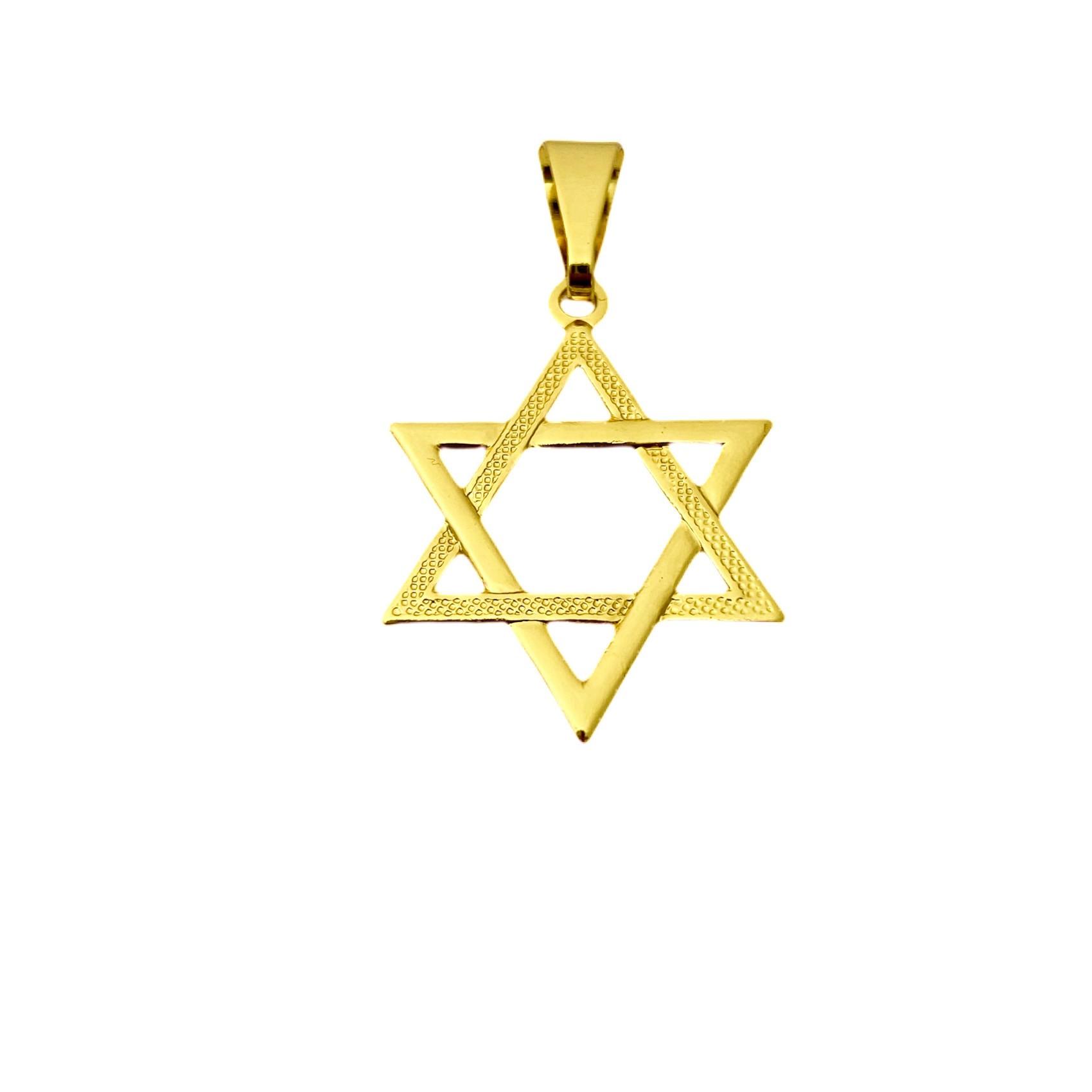 Pingente Estrela de Davi 2,4cm X 1,9cm