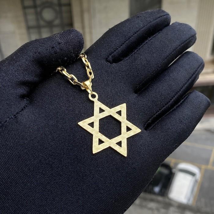 Pingente Estrela de Davi 3cm X 3cm