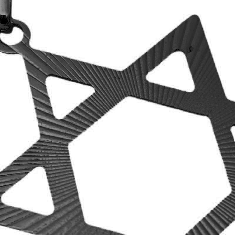 Pingente Estrela de Davi (4,5cmX3,6cm) (Banho de Ônix)