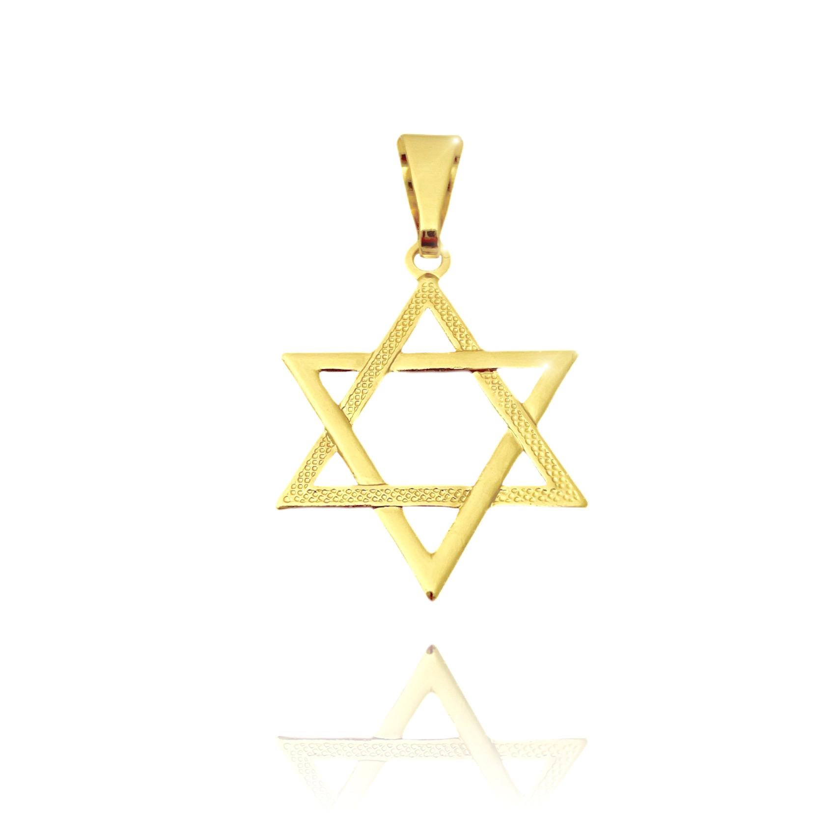 Pingente Estrela de Davi Vazada (2,6cmX2,1cm) (Banho Ouro 24k)