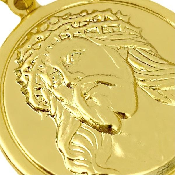 Pingente Face de Cristo Redondo sobre 3cm X 3cm (Banho Ouro 24k)