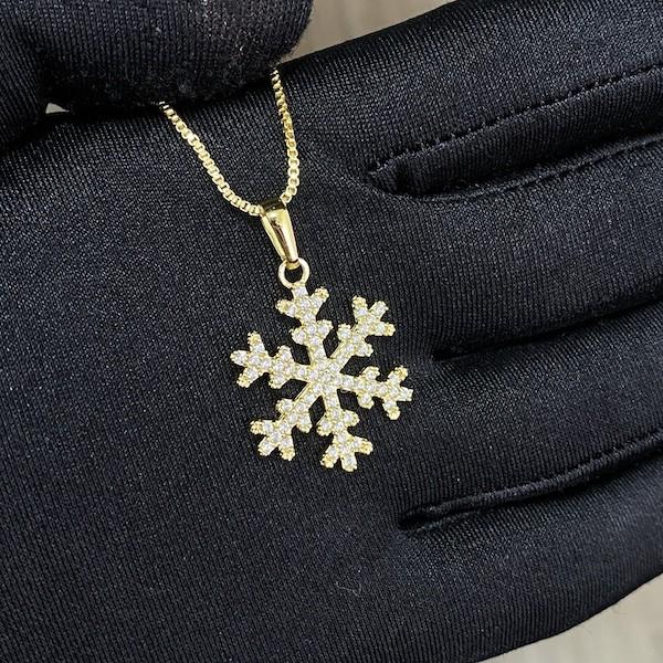 Pingente Floco De Neve Iced 2,3cm X 2,3cm (Banho Ouro 24k)