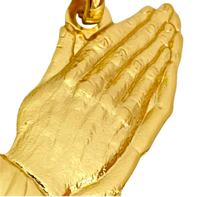 Pingente Mãos Oração (2cmX1cm) (Banho Ouro 24k)