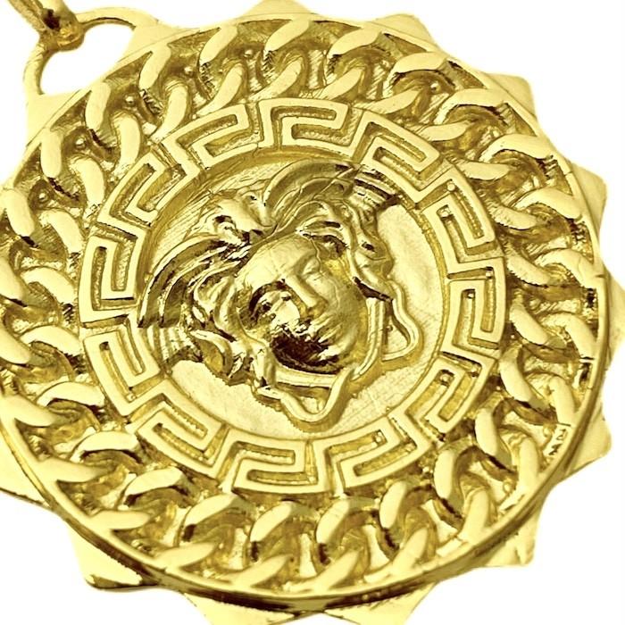 Pingente Medusa Sun 6,5g 2,7cm x 2,7cm (Banho Ouro 24k)