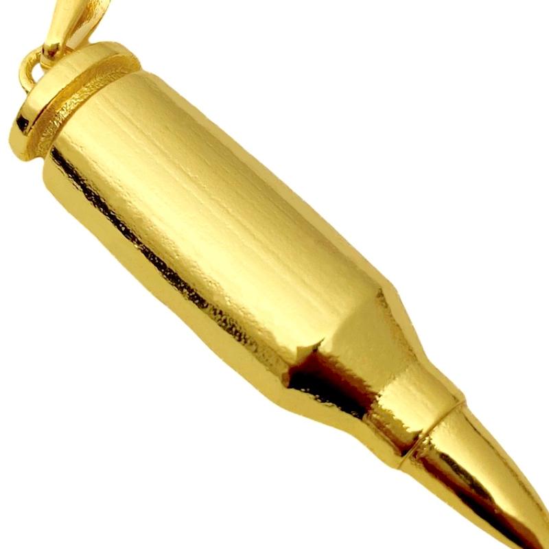 Pingente Munição (4,5cmX1,2cm) (Banho Ouro 24k)