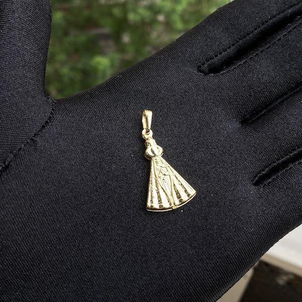 Pingente Nossa Senhora Aparecida Dupla (2,7cmX1,8cm) (Banho Ouro 24k)