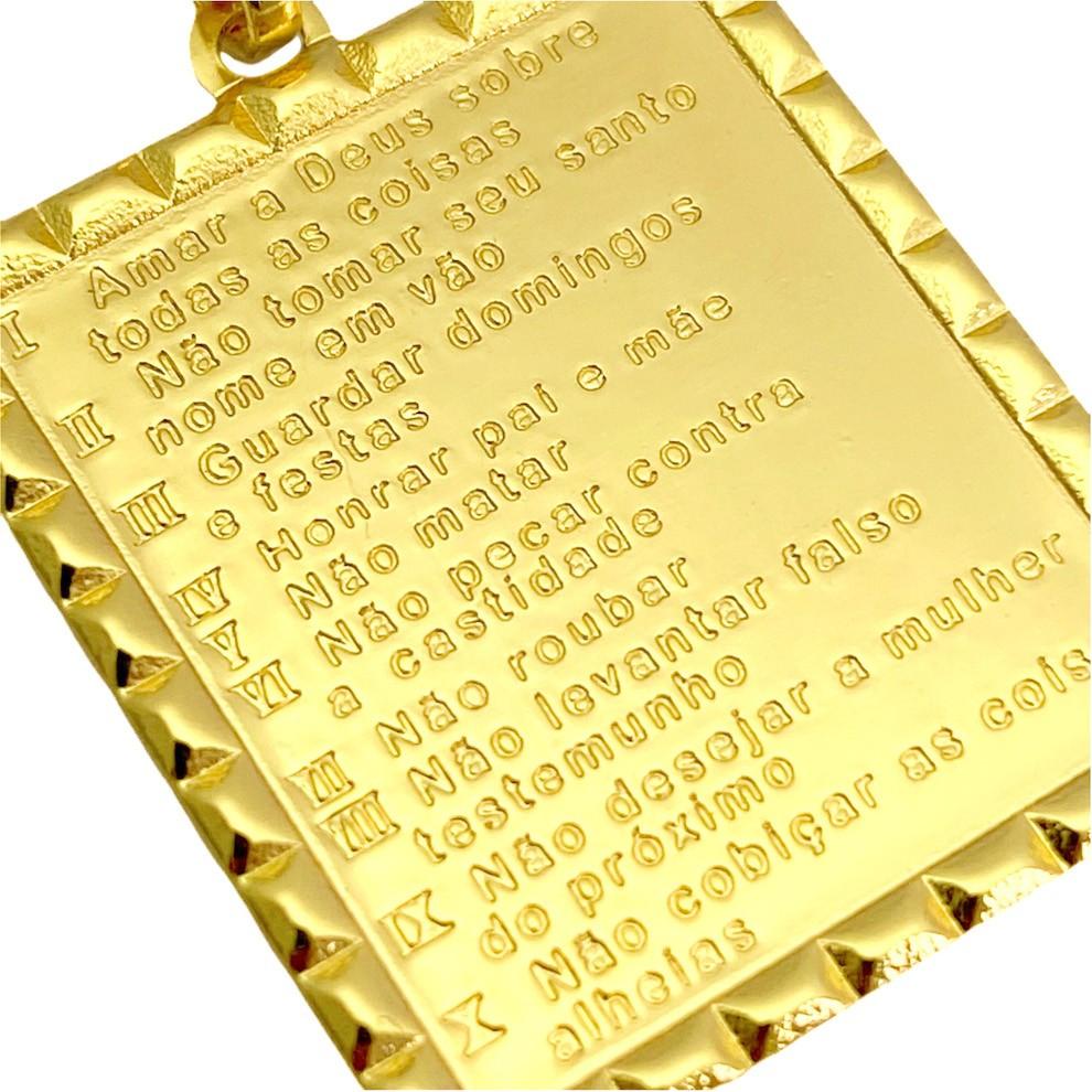 Pingente Placa 10 Mandamentos 2,5cm X 2,2cm