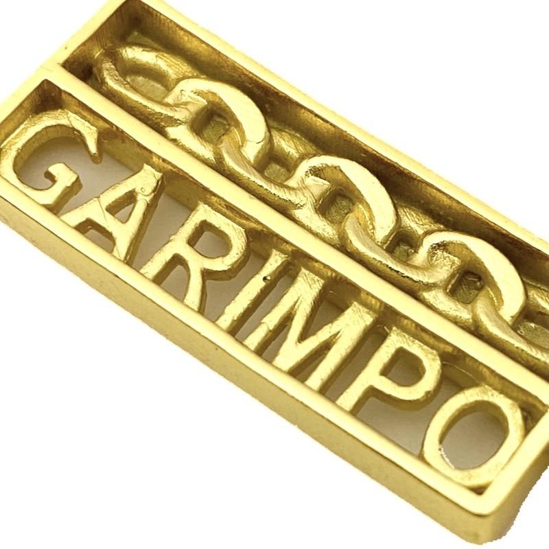 Pingente Placa Garimpo 3,6cm X 1,2cm