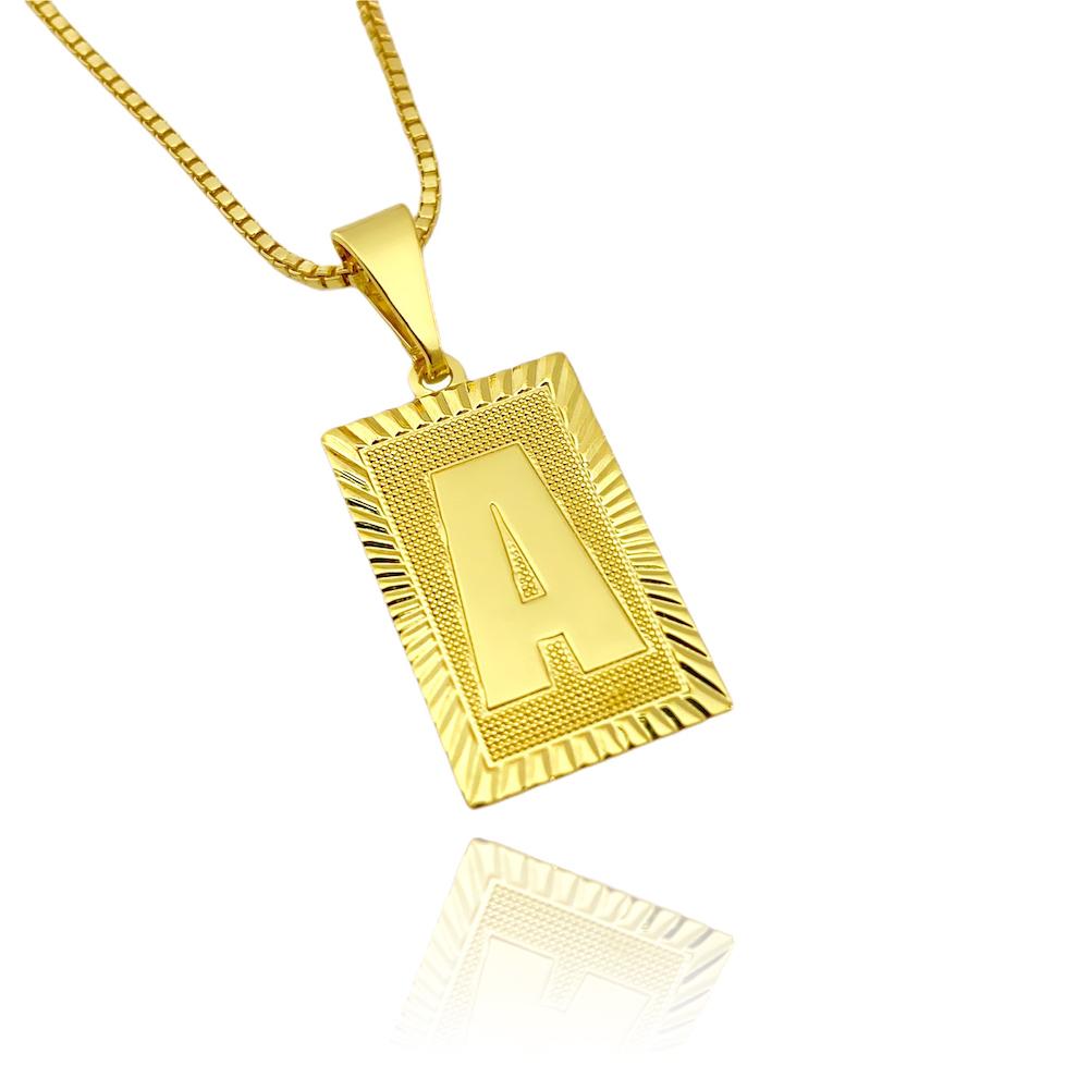 Pingente Placa Letra 2cm X 1,2cm (Entre e escolha a sua Letra)