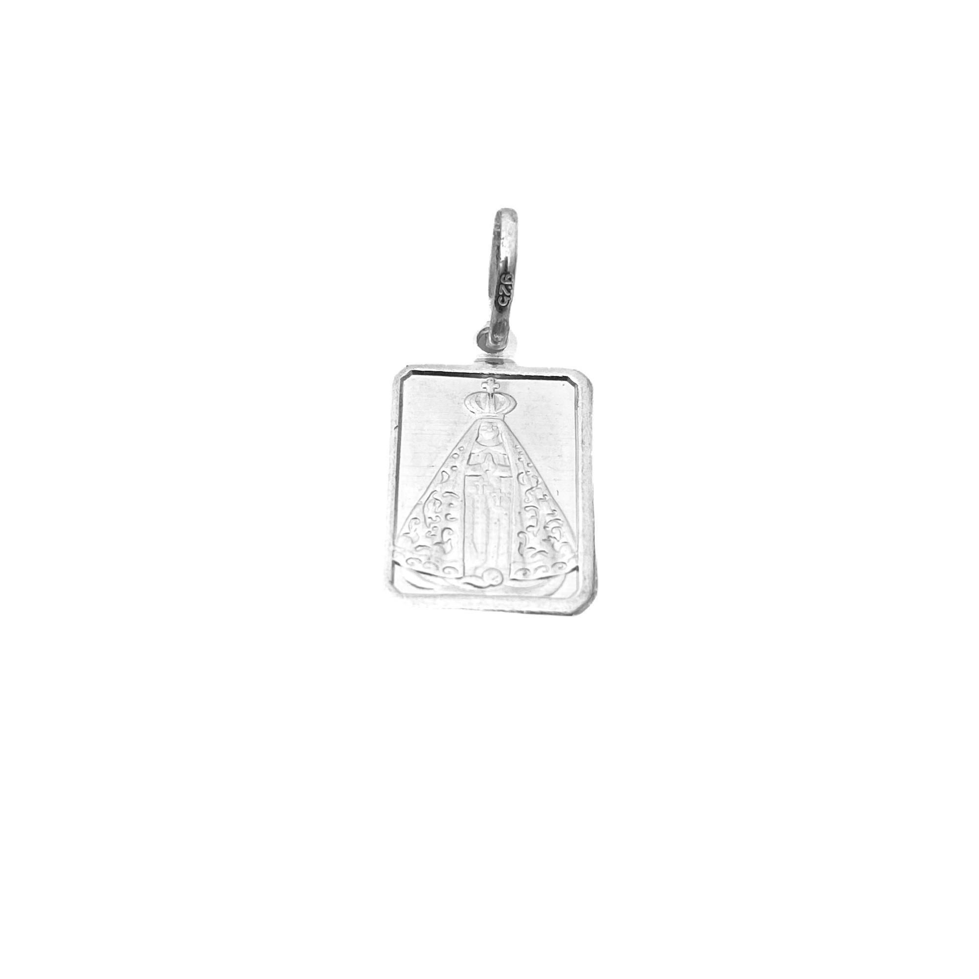 Pingente Placa Nossa Senhora Aparecida (1,9cmX1,3cm) (Prata 925 Italiana)