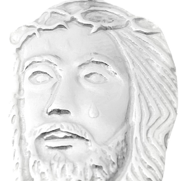 Pingente Rosto De Cristo 2,5cm x 1,7cm (Prata 925 Italiana)