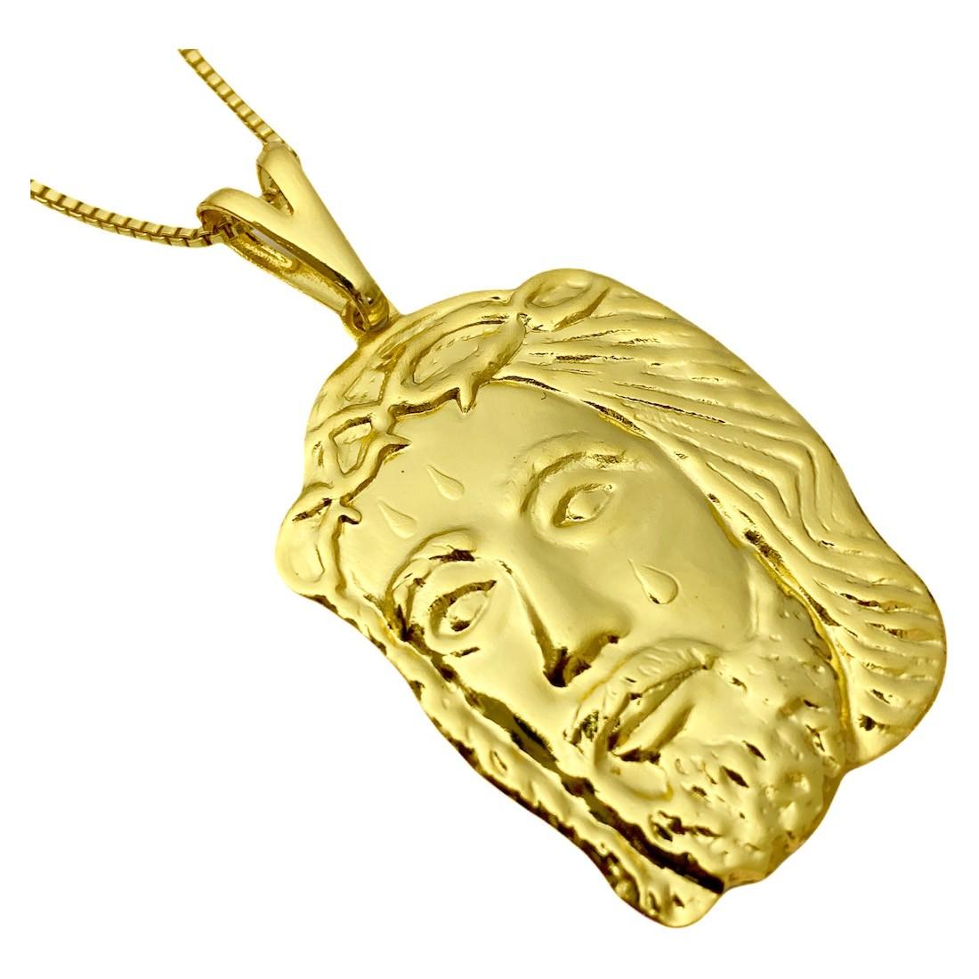 Pingente Rosto de Cristo 3,6cm X 2,5cm G