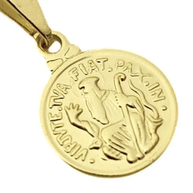 Pingente São Bento 1,1x1,1cm (Banho Ouro 24k)