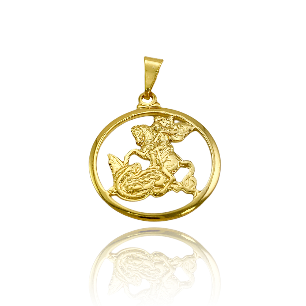 Pingente São Jorge Mini (2,5cmX2,2cm) (Banho Ouro 24k)