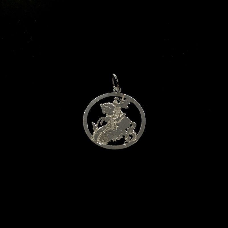 Pingente São Jorge Mini 1,5cm x 1,5cm (Prata 925 Italiana)