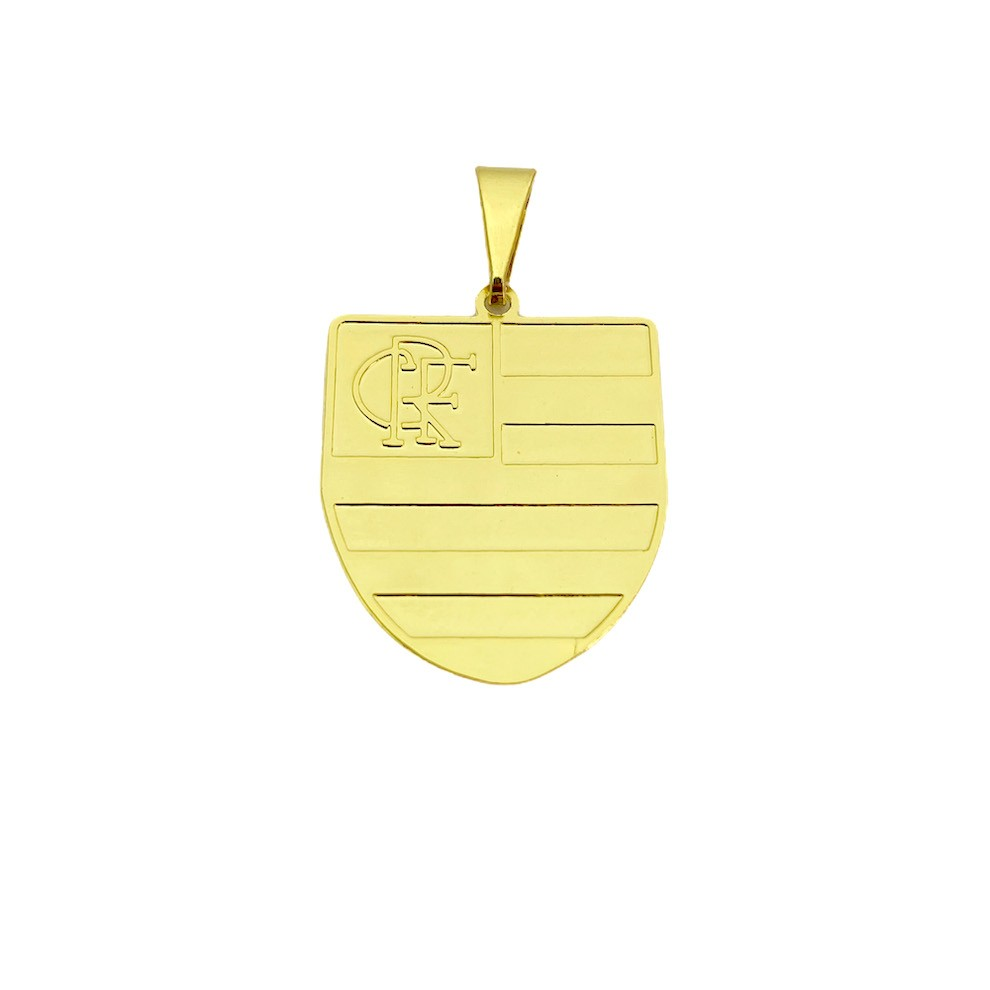 Pingente Time (13) (2,4cmX2,2cm) (Banho Ouro 24k)