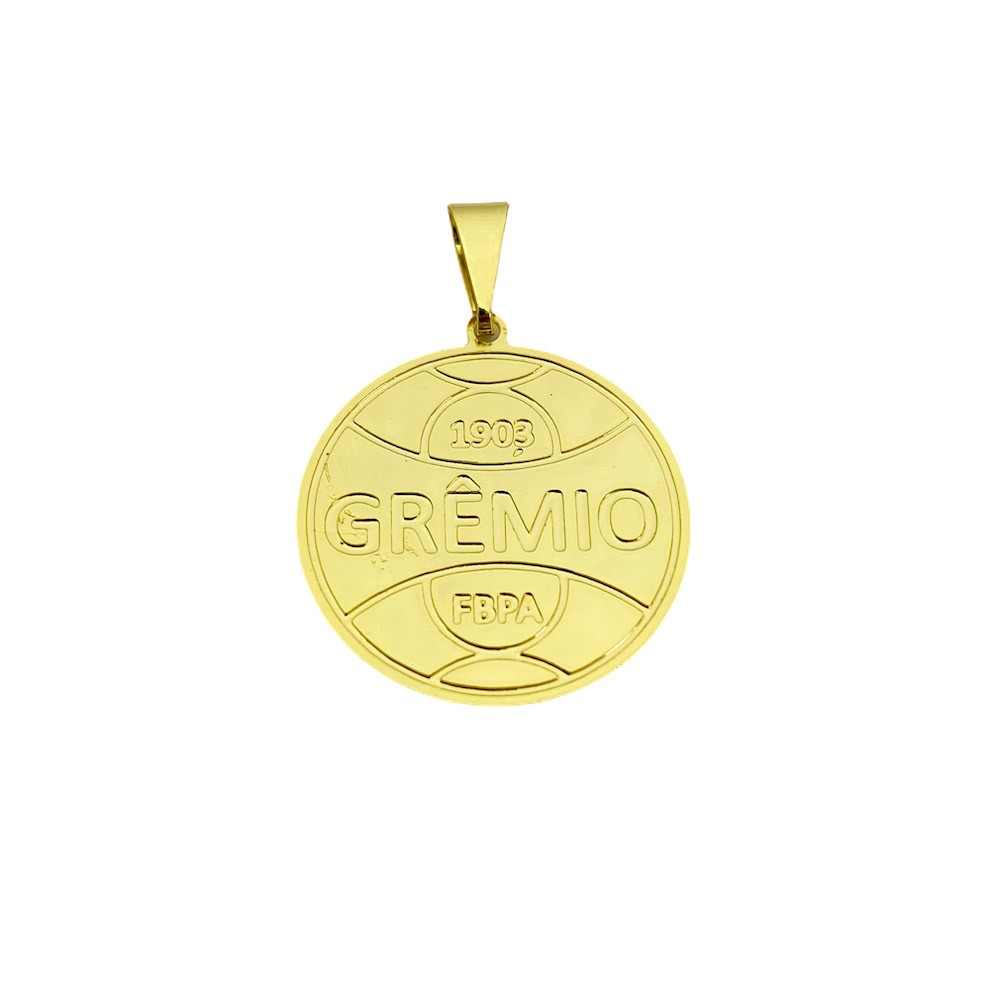 Pingente Time (7) (2,4cmX2,2cm) (Banho Ouro 24k)