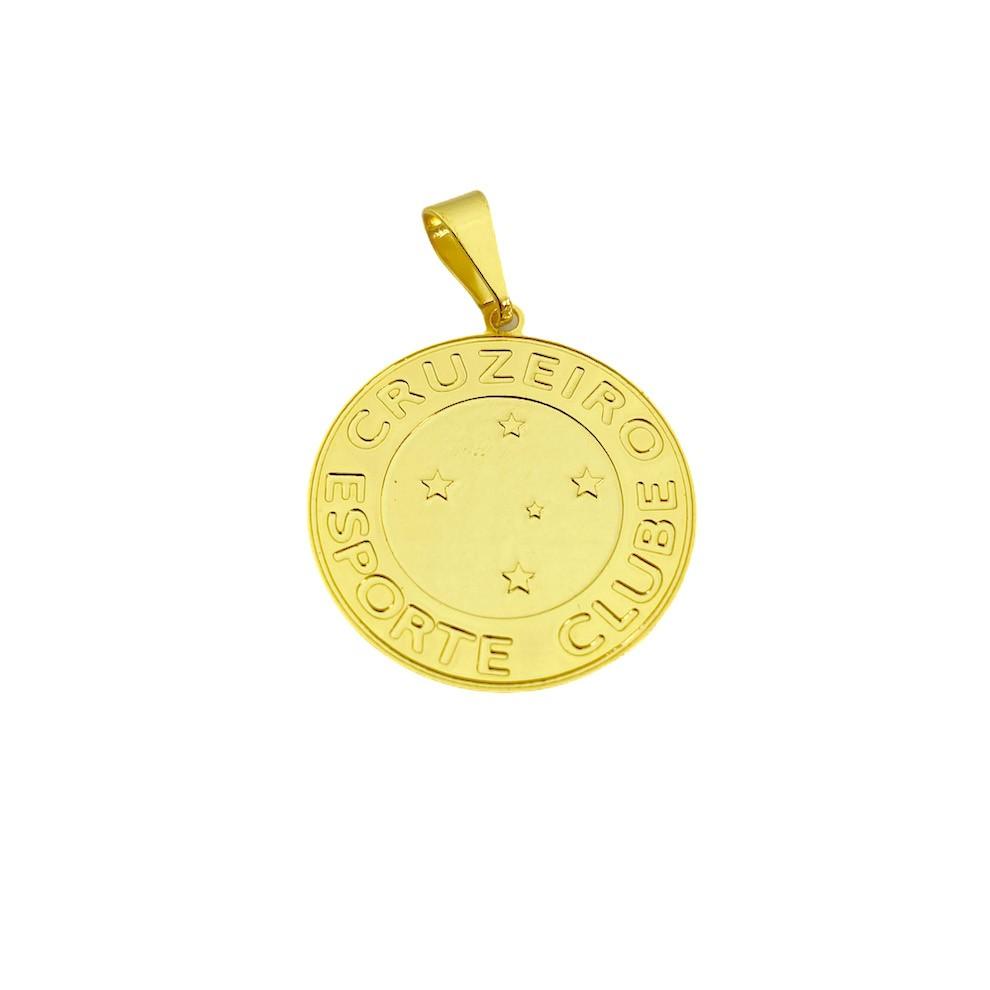 Pingente Time (9) (2,4cmX2,2cm) (Banho Ouro 24k)