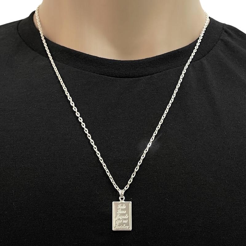 """Pingente """"Tudo Posso"""" (2,4cmX1,4cm) (Prata 925 Italiana)"""