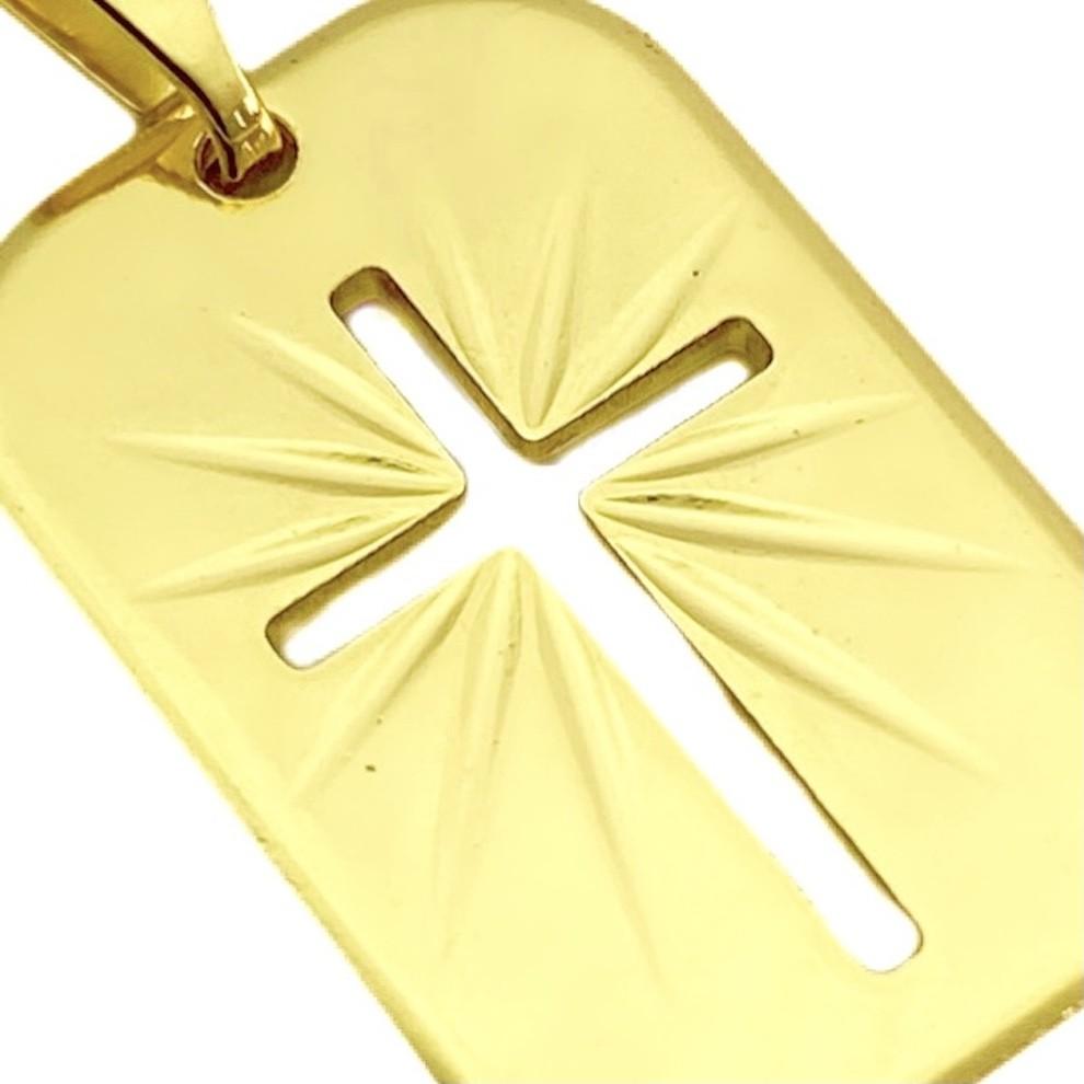 Placa Com Cruz Vazada 1,9cm X 1,3cm