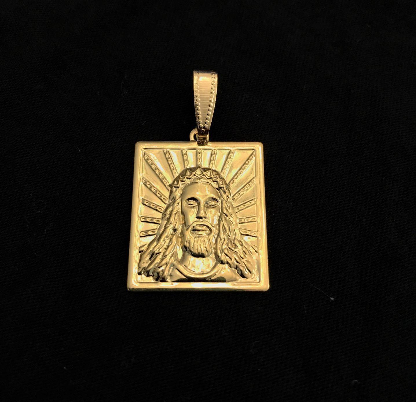 Placa De Cristo 2,2cm X 2,5cm