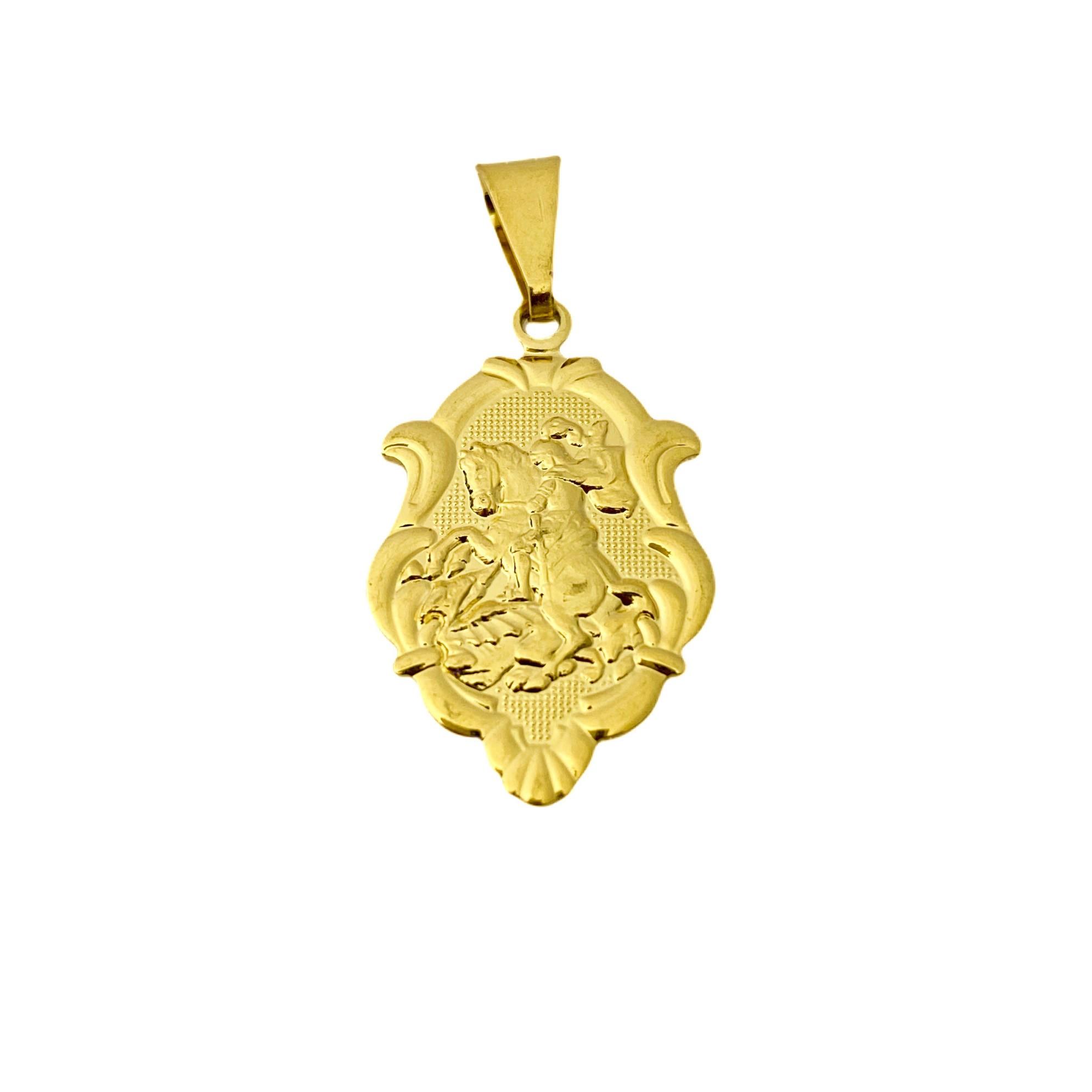 Placa de São Jorge  2,2cm X 1,5cm