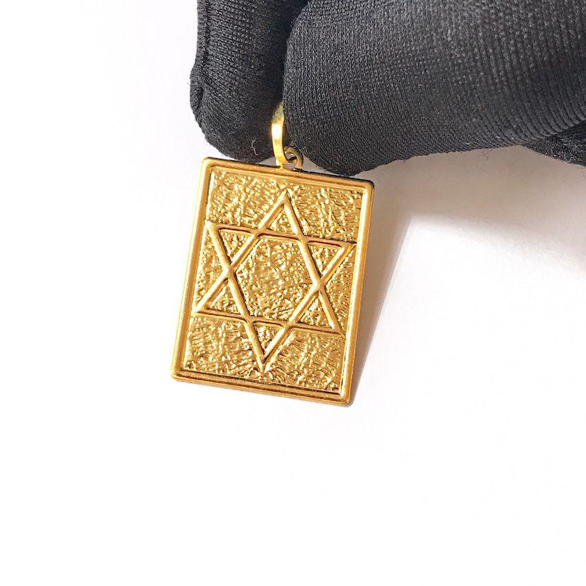 Placa Estrela De Davi 2,2cmX 2,5cm *