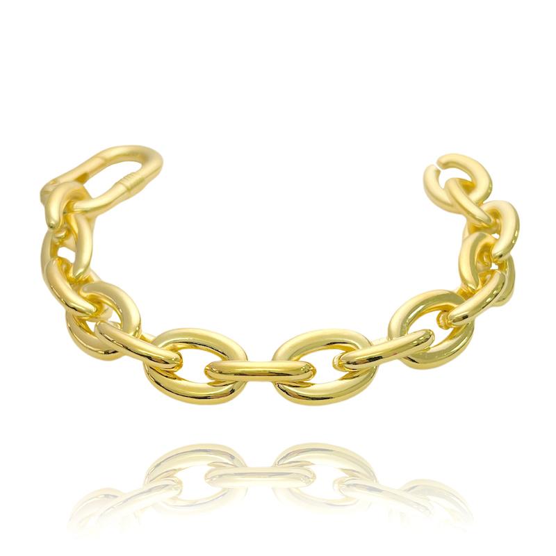 Pulseira Chain 13mm (14,1g) (Banho Ouro 24k)