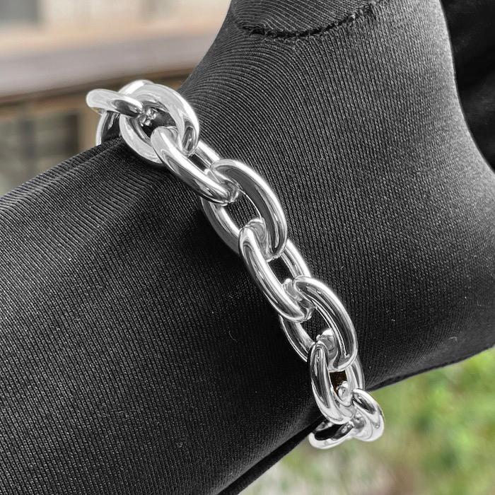 """Pulseira """"Chain"""" 13mm (Banho Prata 925)"""