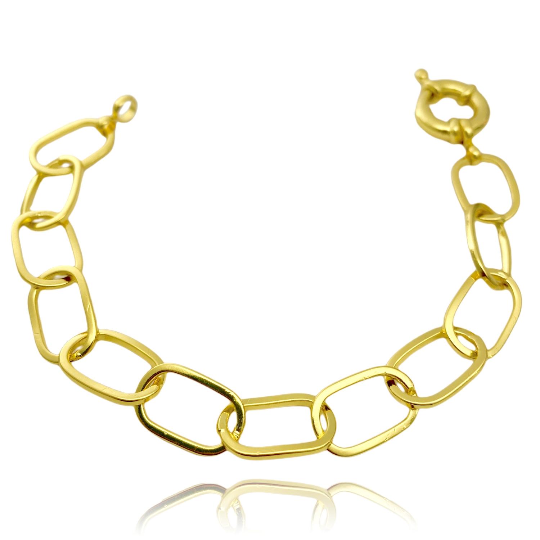 Pulseira Chain Elos (Fecho Boia) (11,7g) (Banho Ouro 24k)