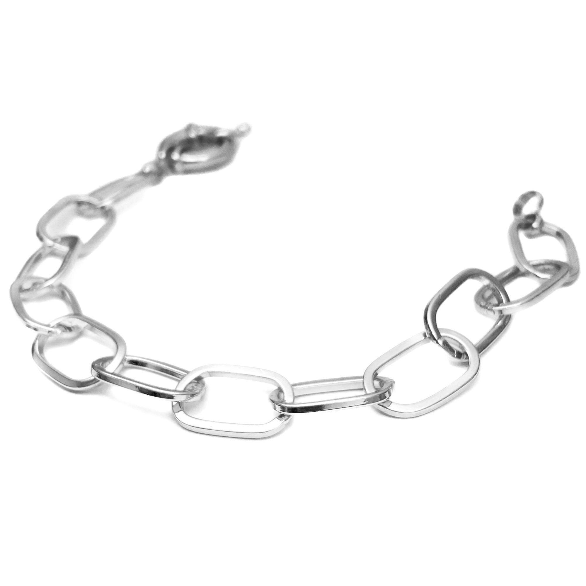 Pulseira Chain Elos Fecho Boia (Banho Prata 925)