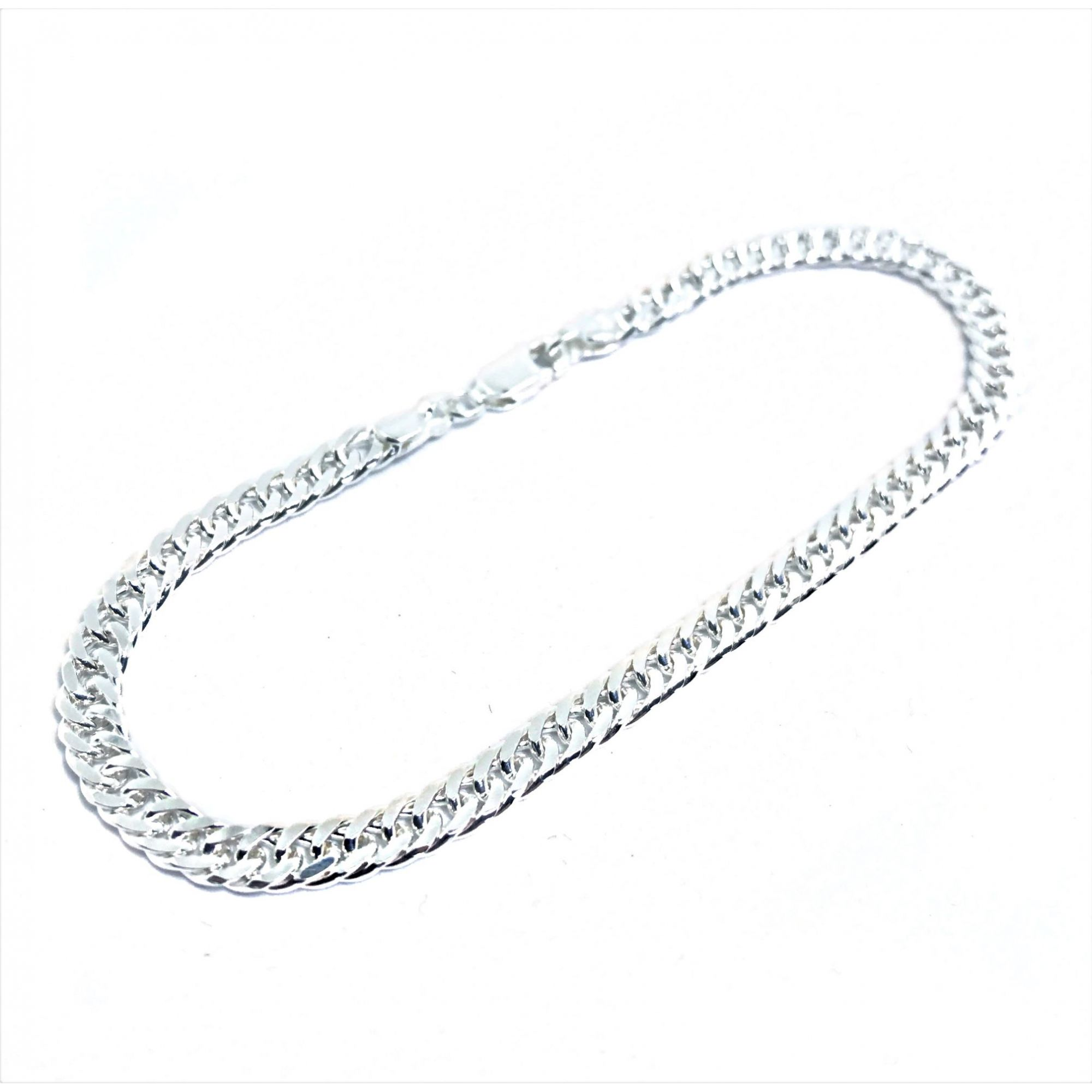 Pulseira Double Grumet 4mm 8g (Prata 925 Italiana)