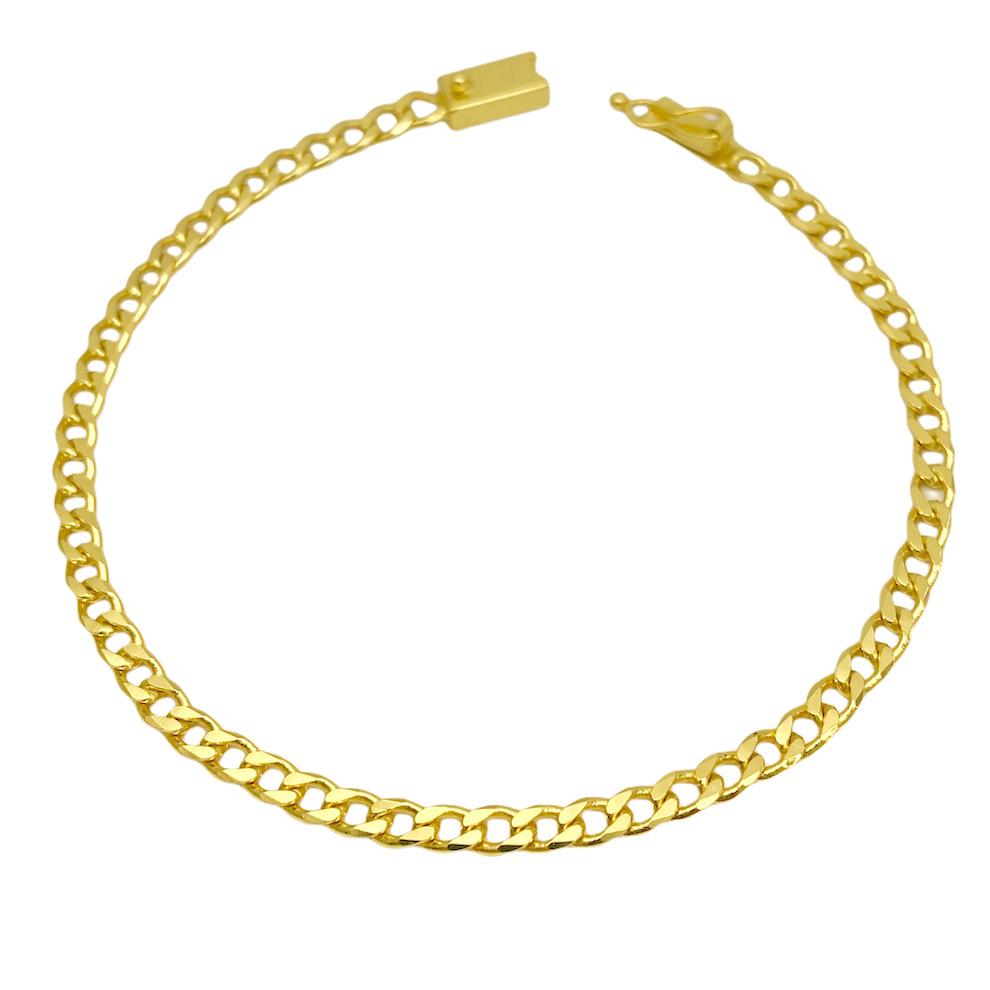 Pulseira Grumet 4mm (Fecho Gaveta) (Banho Ouro 24k)