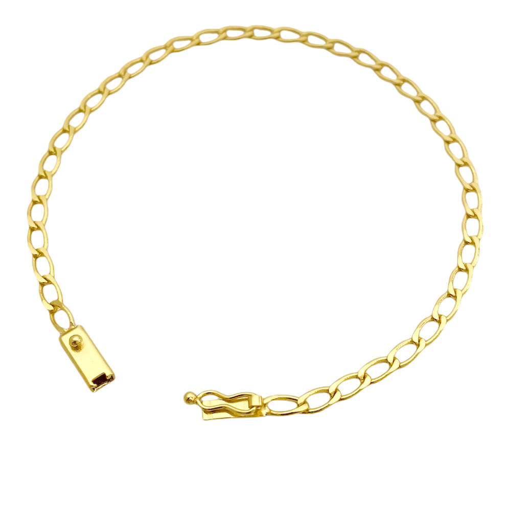 Pulseira Grumet Aberta 3,5mm (Fecho Gaveta) (Banho Ouro 24k)