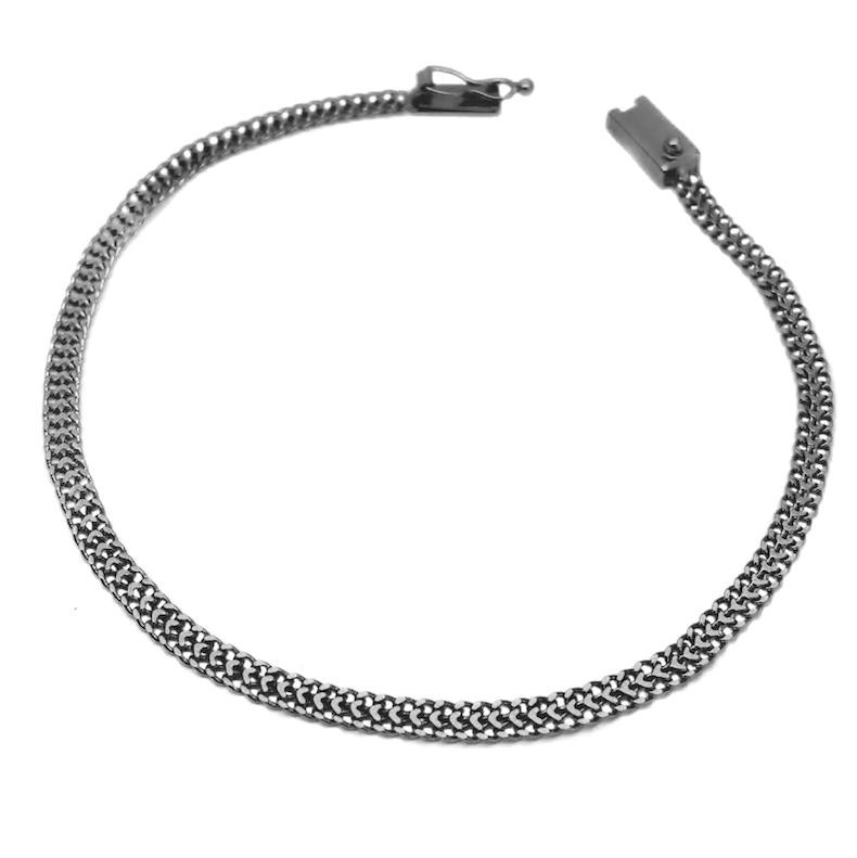 Pulseira Grumet Union 3,3mm (Fecho Gaveta) (Banho de Ônix)