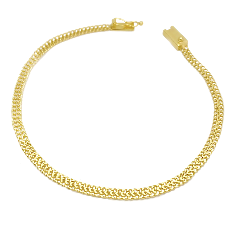 Pulseira Grumet Union 3,3mm (Fecho Gaveta) (Banho Ouro 24K)