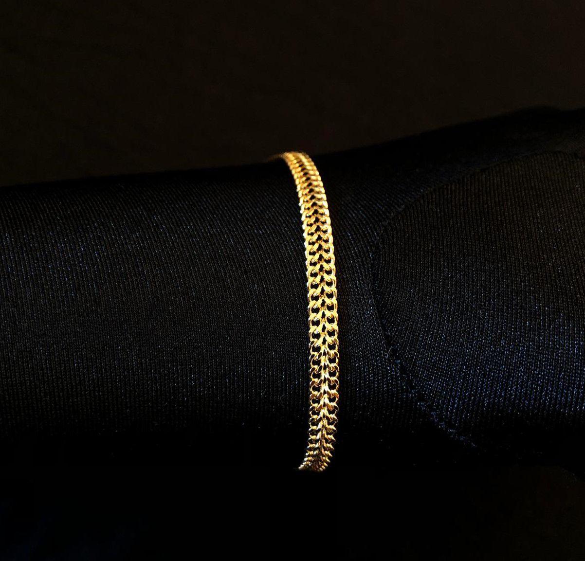 Pulseira Grumet Union 4mm (Fecho Gaveta) (Banho Ouro 24k)