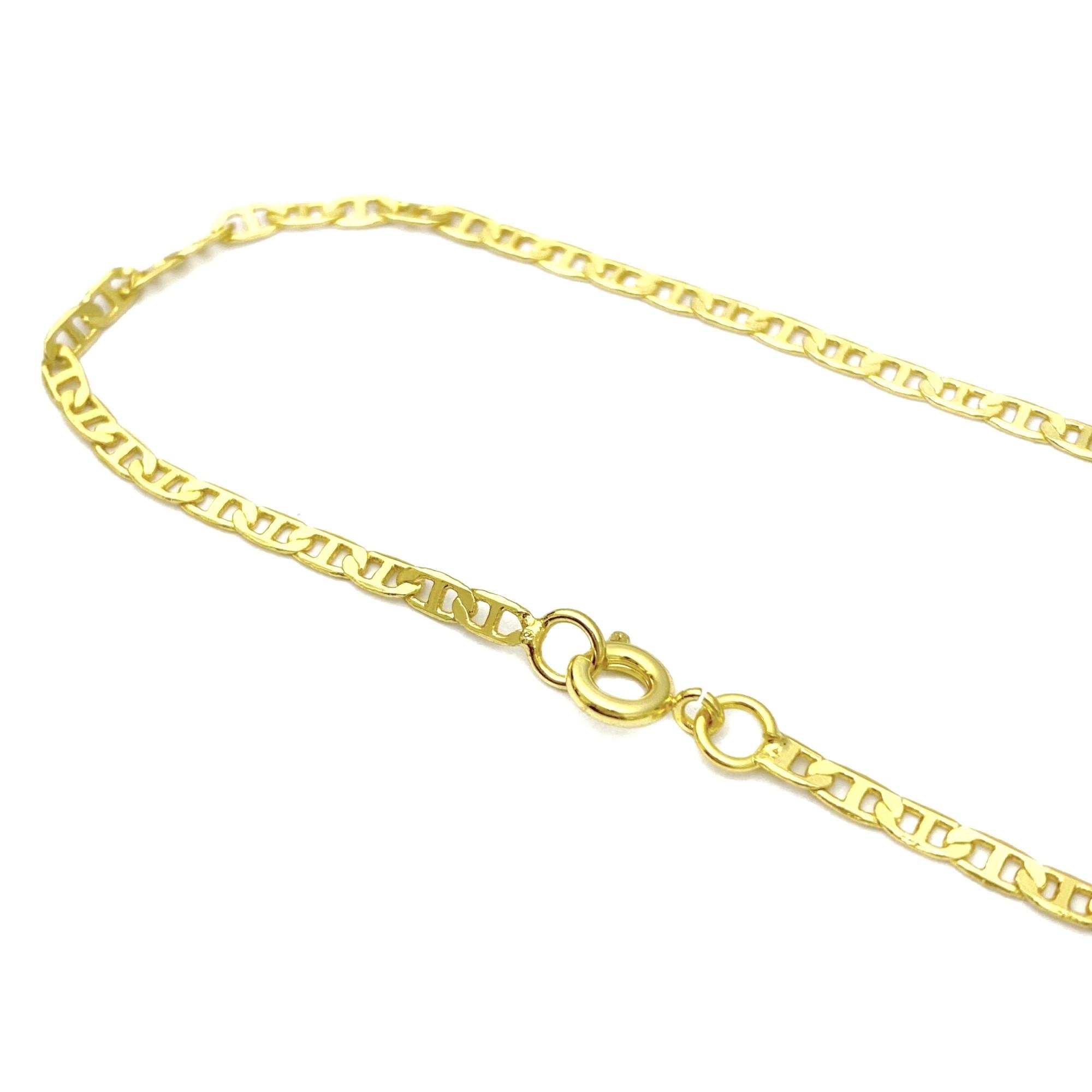 Pulseira Piastrine 2,5mm (Fecho Tradicional) (Banho Ouro 24k)