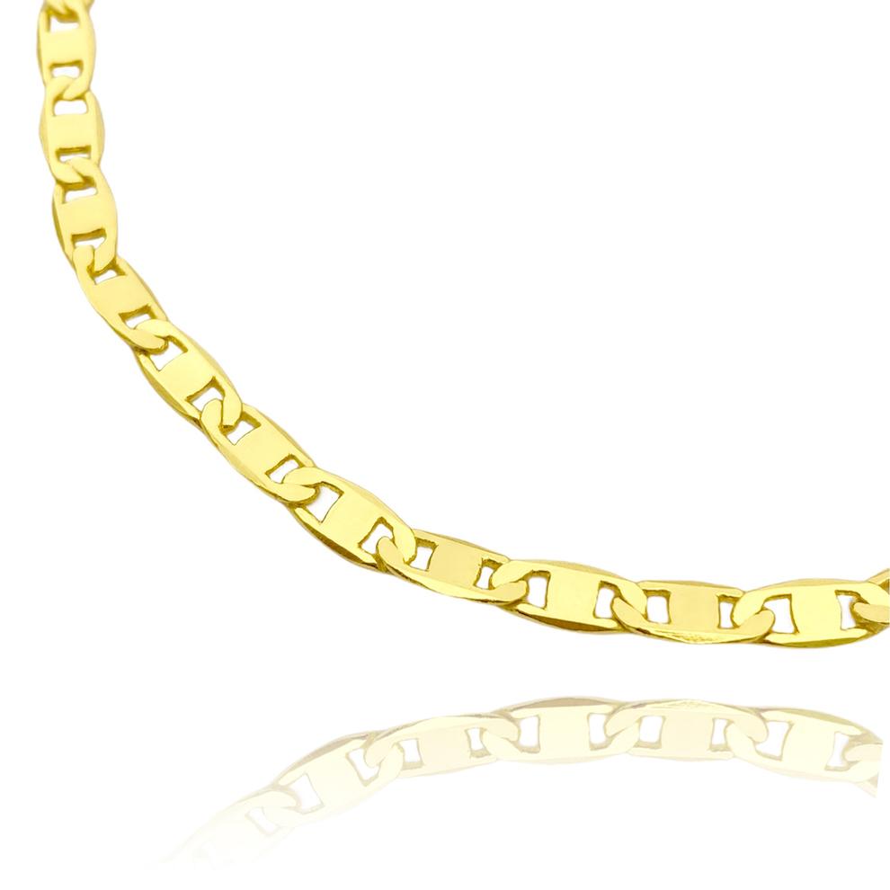 Pulseira Piastrine 4mm (Fecho Gaveta) (Banho Ouro 24k)