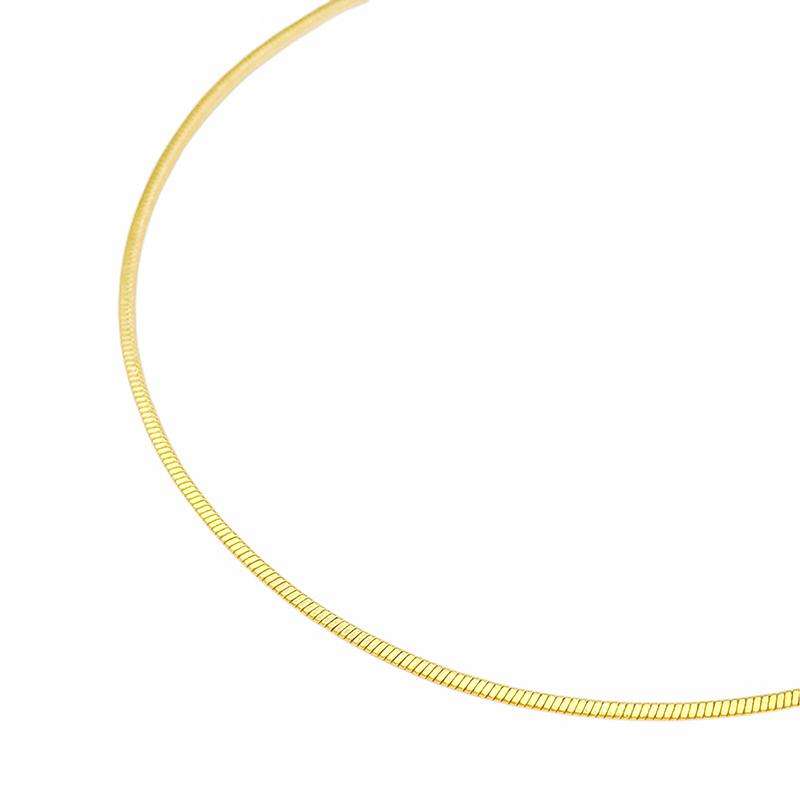 Pulseira Rabo de Rato Quadrada 1,2mm (Fecho Tradicional) (Banho Ouro 24k)