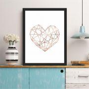 Coração Geométrico Rosê