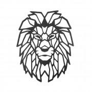 Escultura de Parede Leão Geométrico 62cm